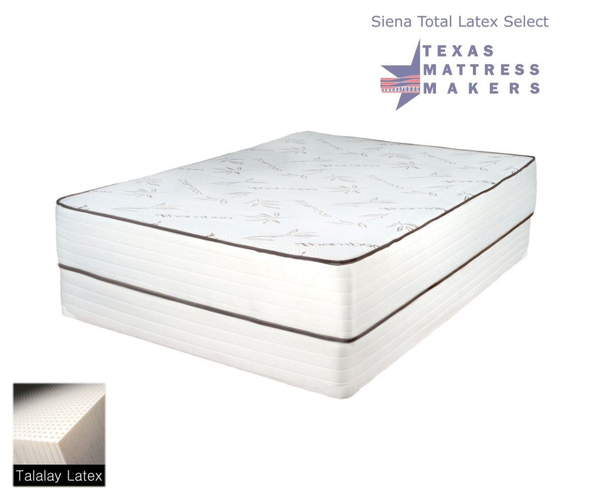 Siena Total Latex Select Mattress - Texas Mattress Makers